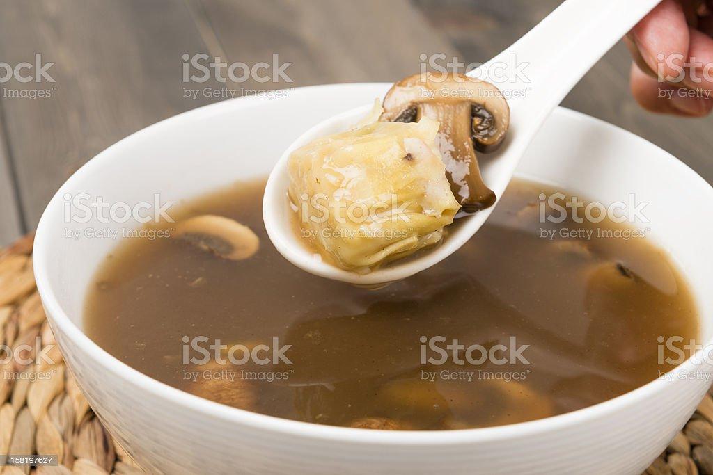 Hot & Sour Soup (酸辣湯) stock photo