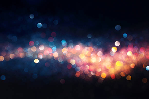 hot and cold defocused lights - foto stock