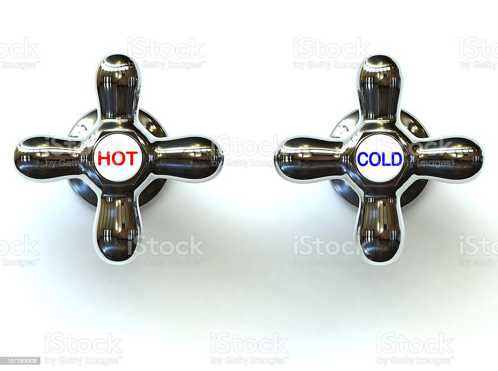 Hot and Cold stock photo