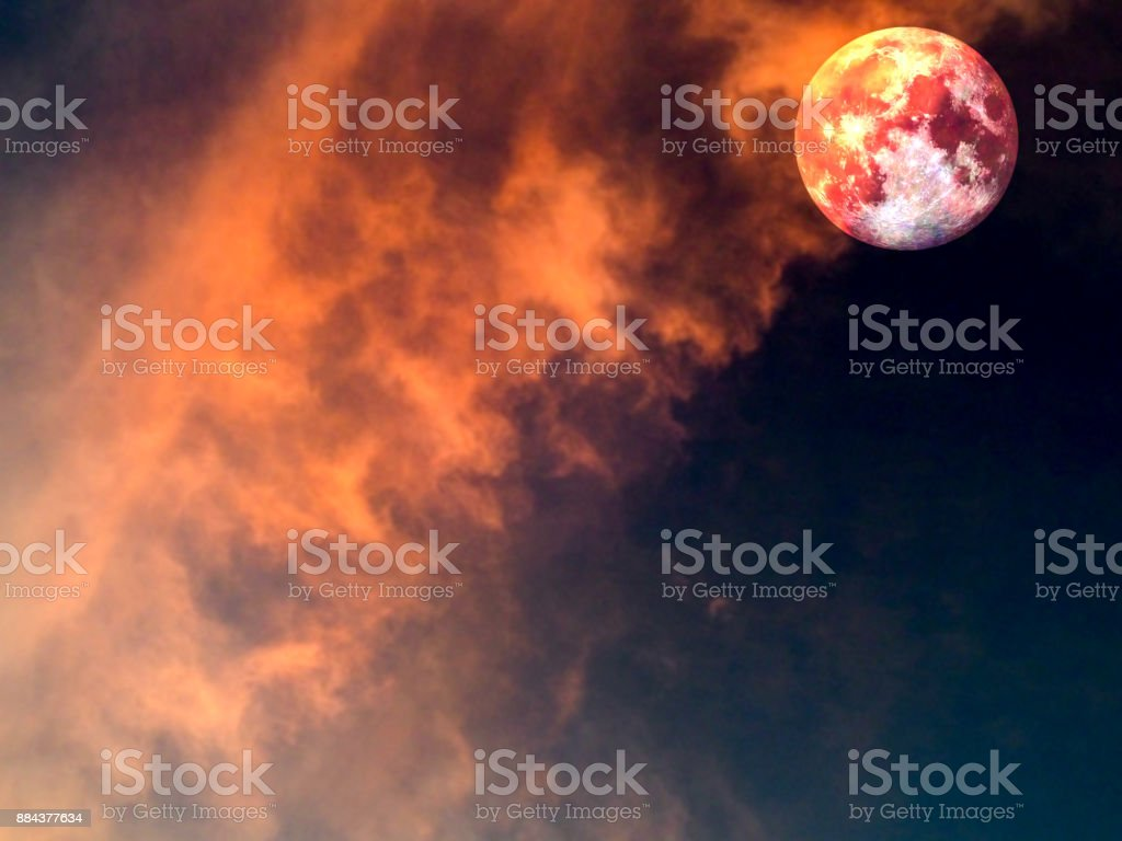 hot and cool moon surface when sunshine stock photo