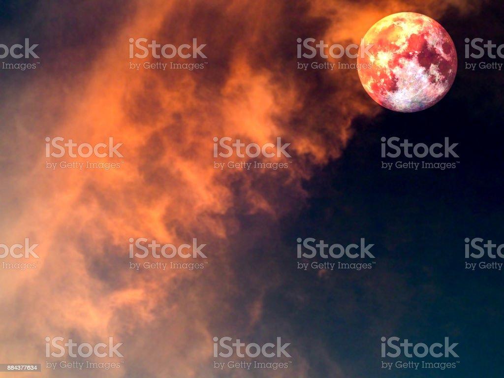 warme en koude maanoppervlak als zonneschijn foto