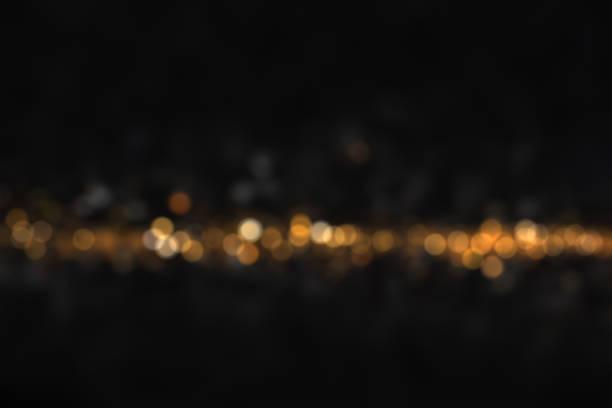 Hot and dark defocused lights stock photo