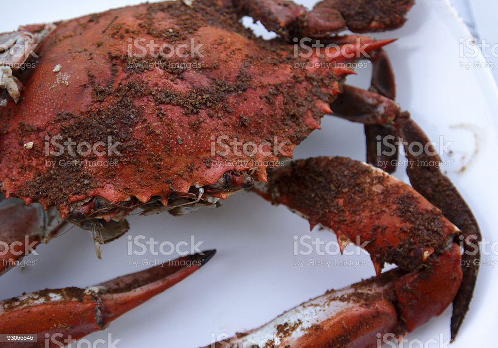 Hot and Dirty Crab stock photo