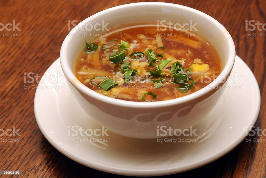 Hot and Sour Soup Isolated stock photo