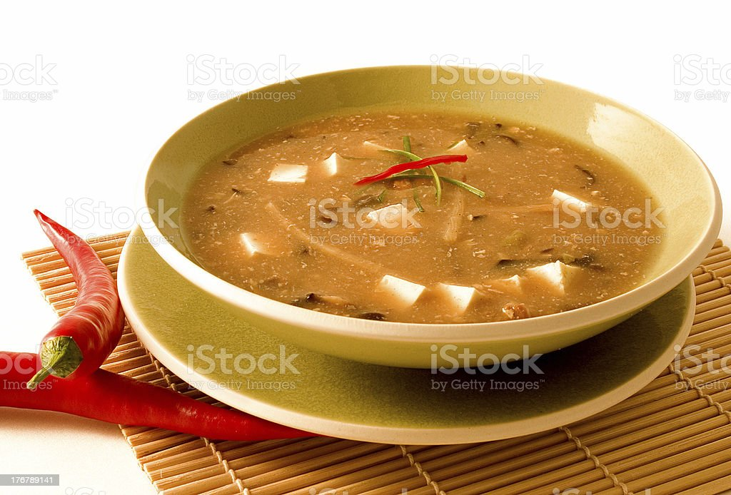 Hot and Sour Soup stock photo