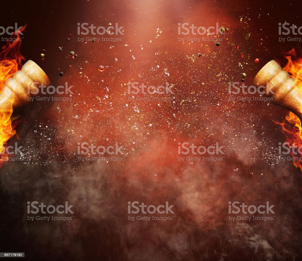 hot and spicy background stock photo