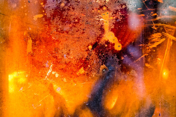 Hot and spicy fire background stock photo