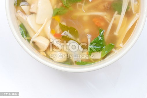 istock Hot and Spicy Soup with mushroom, mix vegetable, Thai herbs 622921646