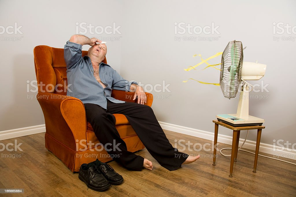 Hot and Tired stock photo
