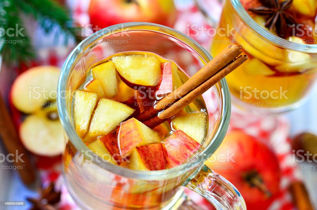 Hot apple cider. stock photo