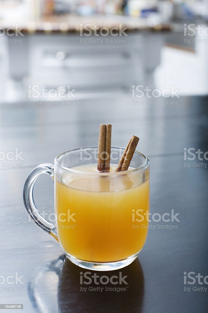 Hot apple cider stock photo