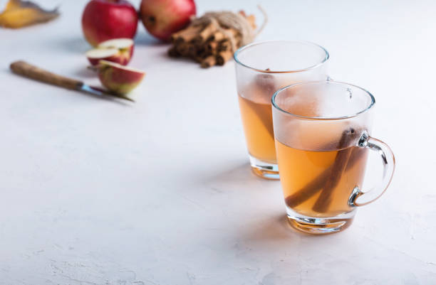 Hot apple cider punch Hot apple cider punch, fall festive hot drink hot apple cider stock pictures, royalty-free photos & images