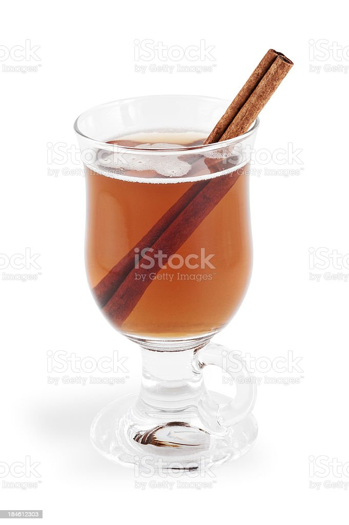 Hot Apple Cider with Clipping Path stock photo