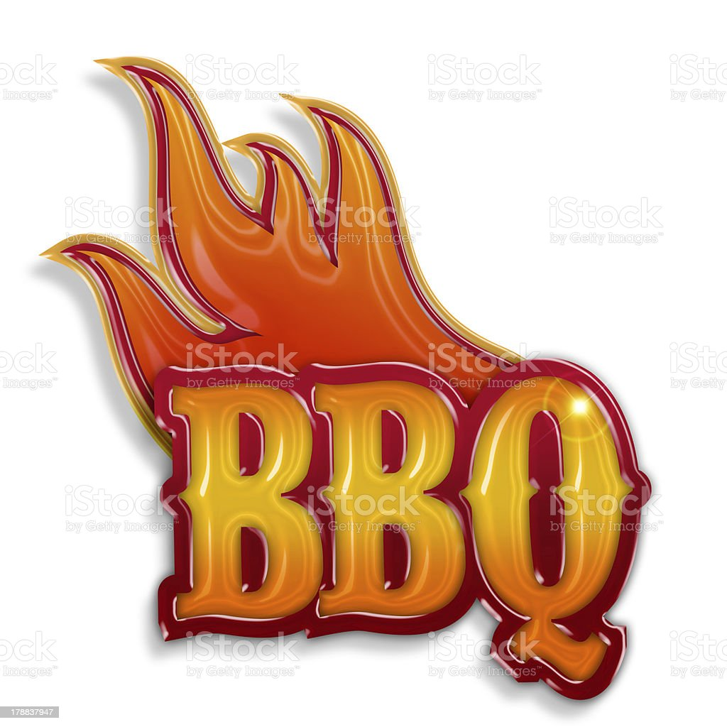 hot barbecue label royalty-free stock photo
