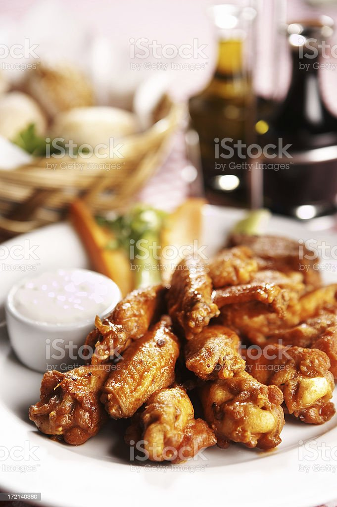 Hot BBQ Wings royalty-free stock photo