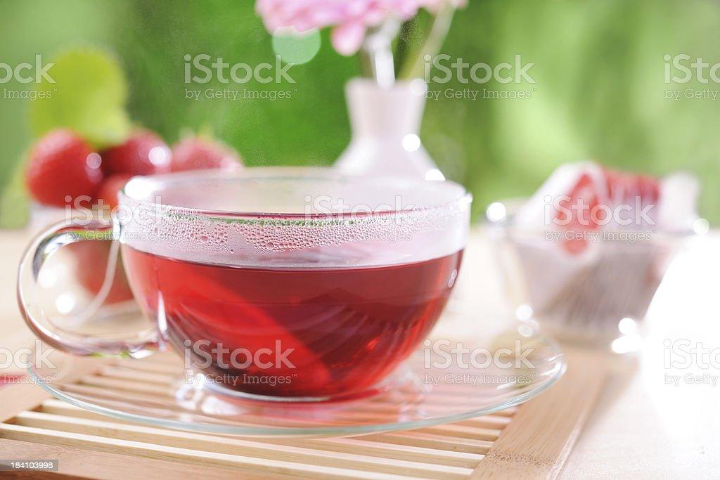 Hot berry tea stock photo