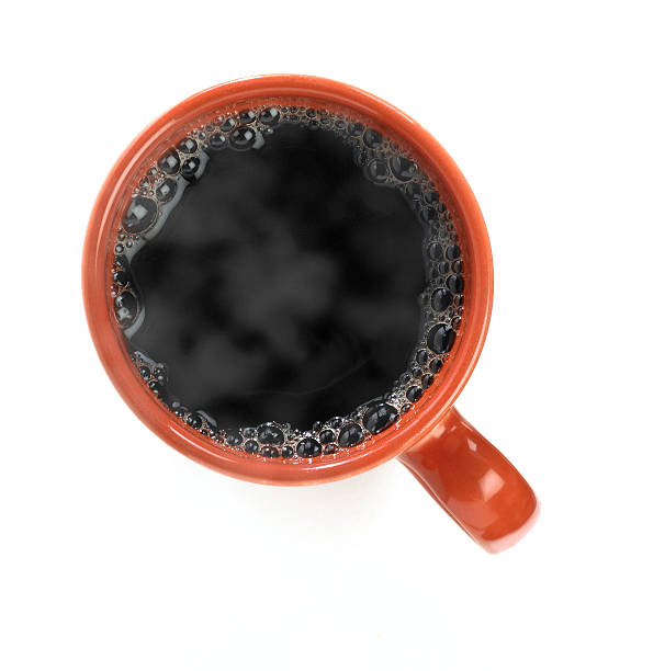 Hot black coffee Coffee cup isolated (directly above) black coffee stock pictures, royalty-free photos & images