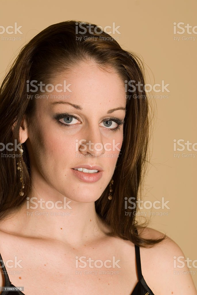 Hot Brunette stock photo