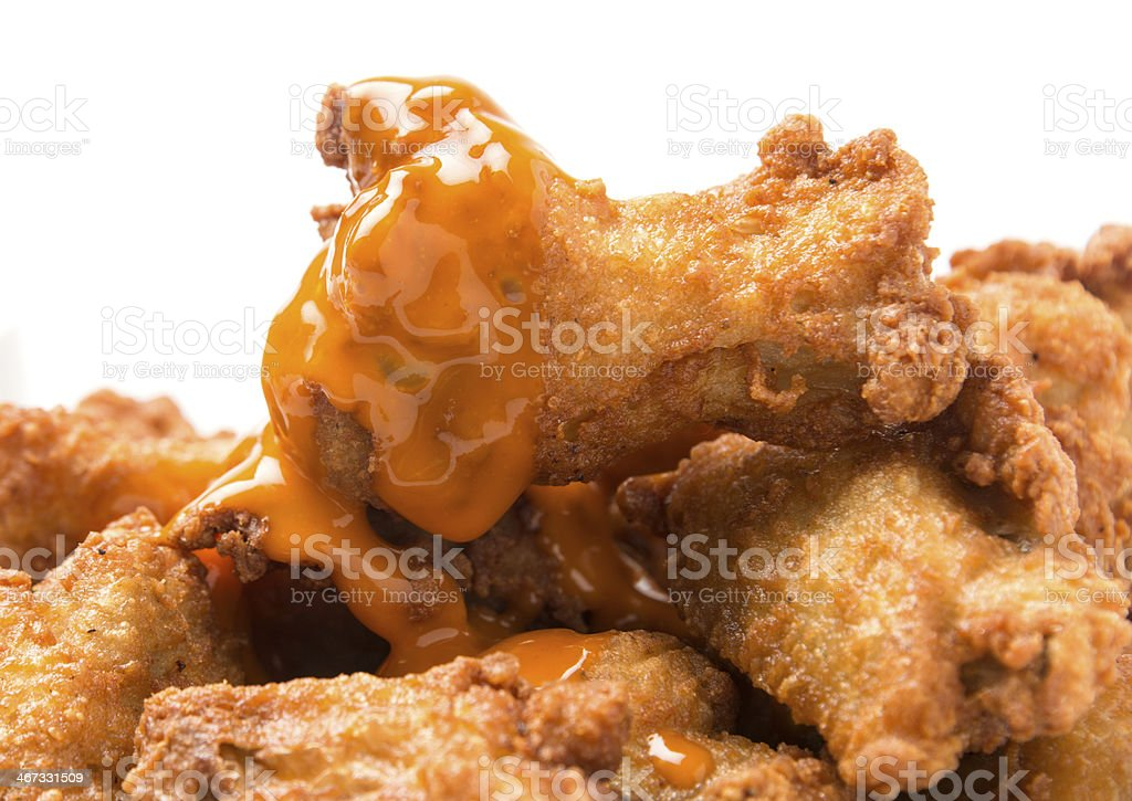 Hot Buffalo Chicken Wings stock photo