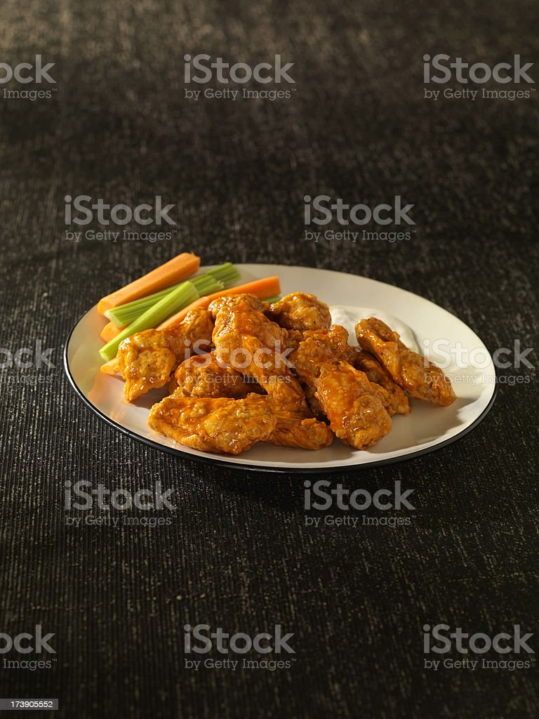 Hot Buffalo Wings royalty-free stock photo
