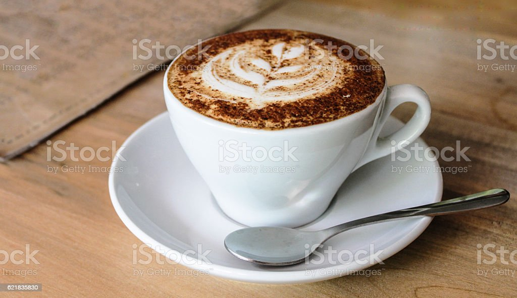 Hot Cappucino stock photo