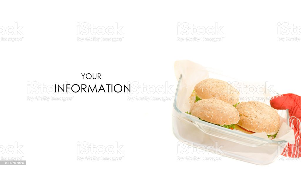 Hot cheeseburgers in a glassware pattern stock photo