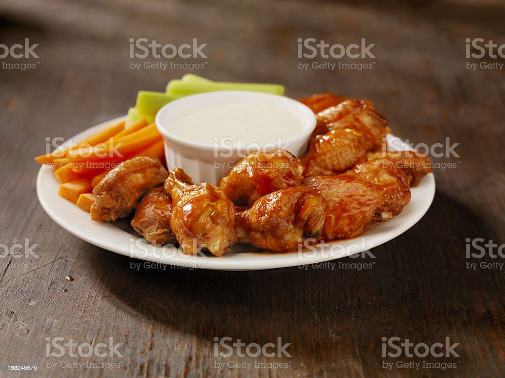 Hot Chicken Wing Platter stock photo