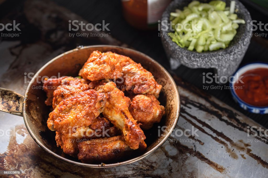 Hot Chicken Wings foto stock royalty-free
