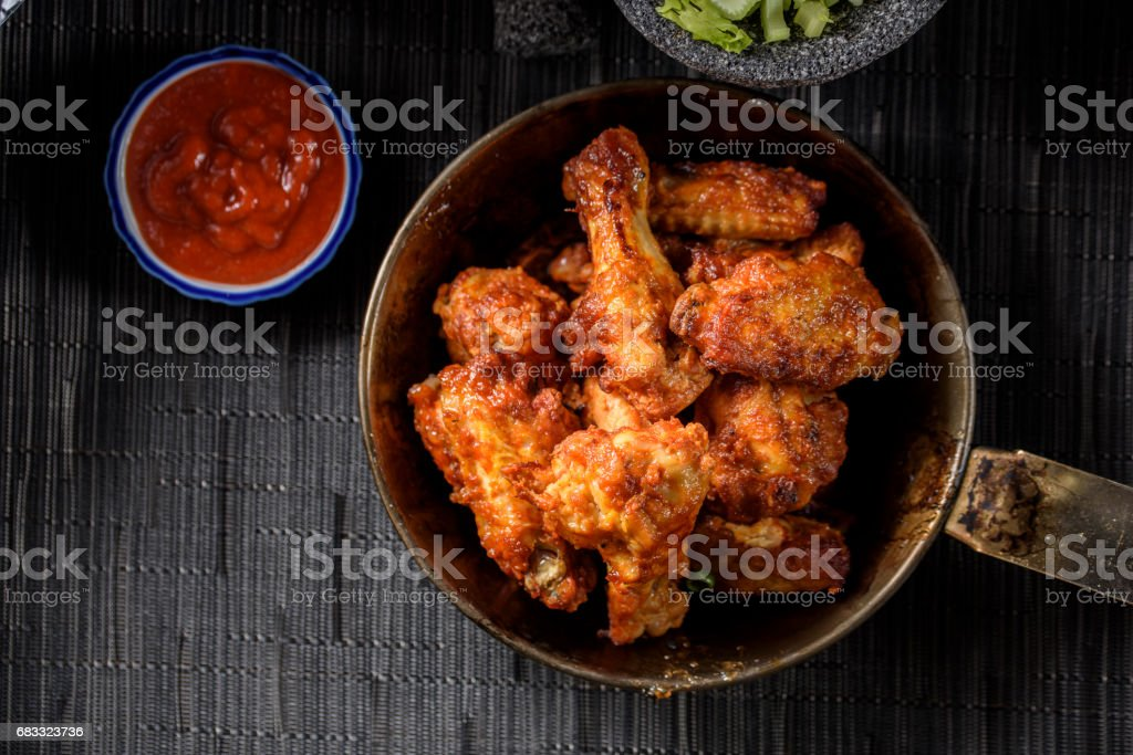 Hot Chicken Wings stock photo