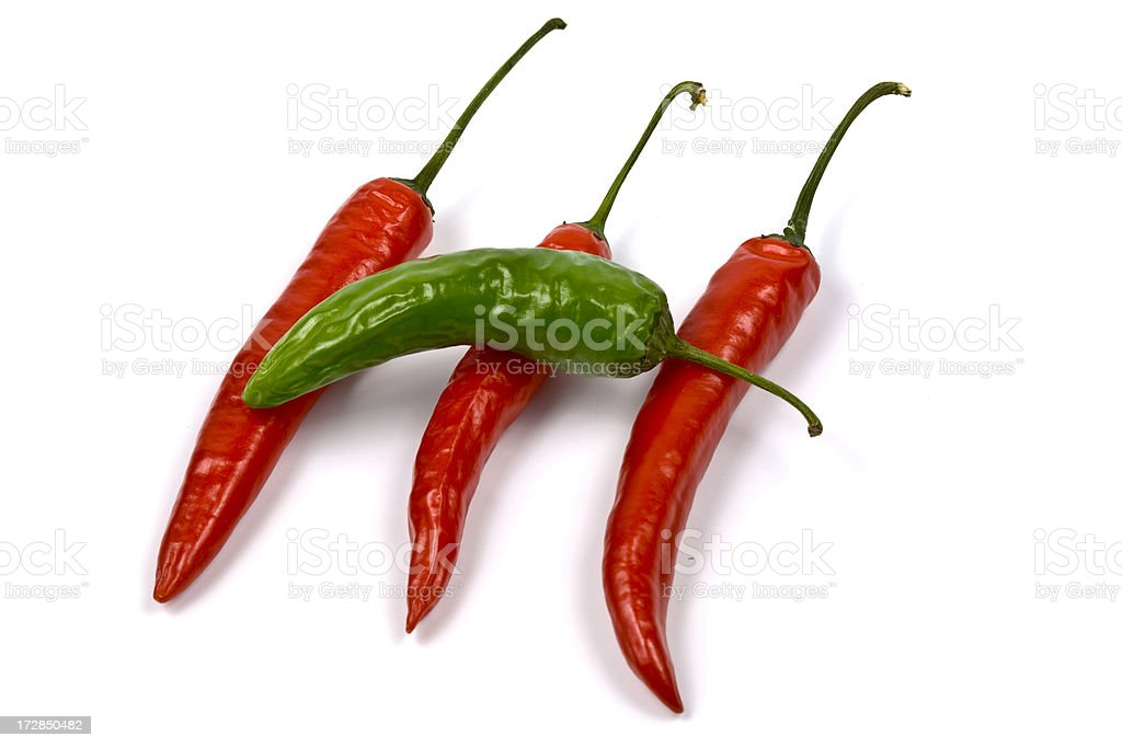 Hot Chili Pepper series royalty-free stock photo
