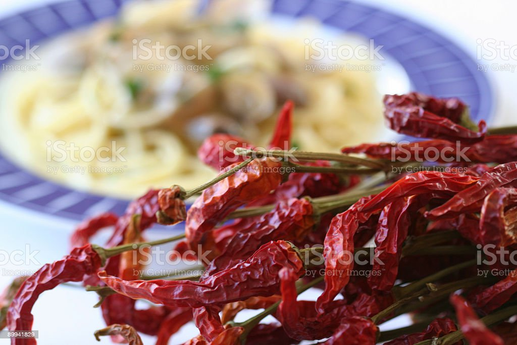 Hot chily peppers royalty-free stock photo