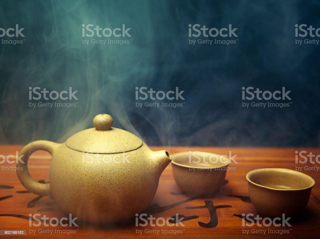 Hot Chinese tea stock photo
