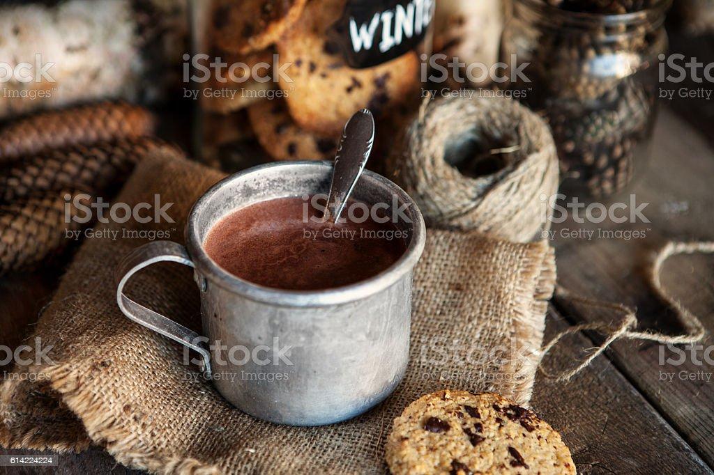 Hot chocolate and Christmas - foto de acervo