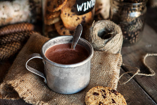 hot chocolate and christmas - hot chocolate stock photos and pictures