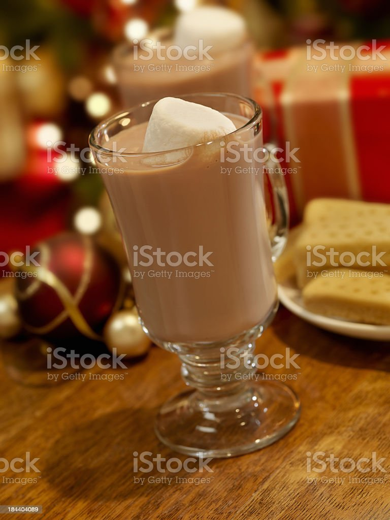 Hot Chocolate at Christmas Time royalty-free stock photo