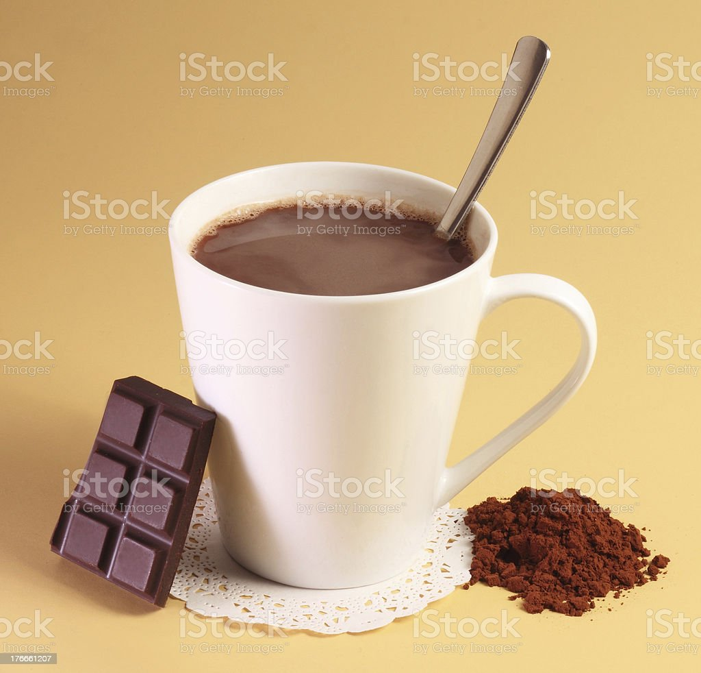 Hot chocolate drink royalty-free stock photo