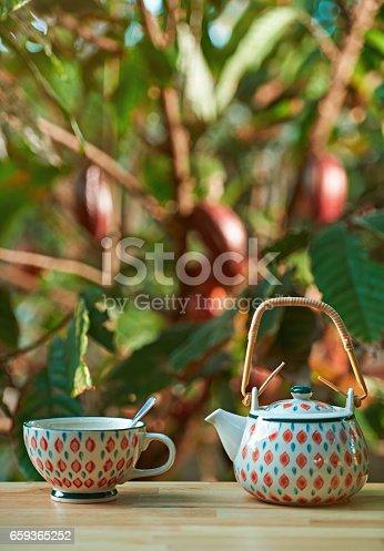 istock Hot chocolate drink 659365252
