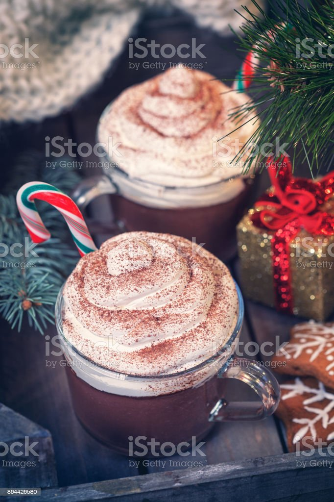 Hot Chocolate for Christmas stock photo