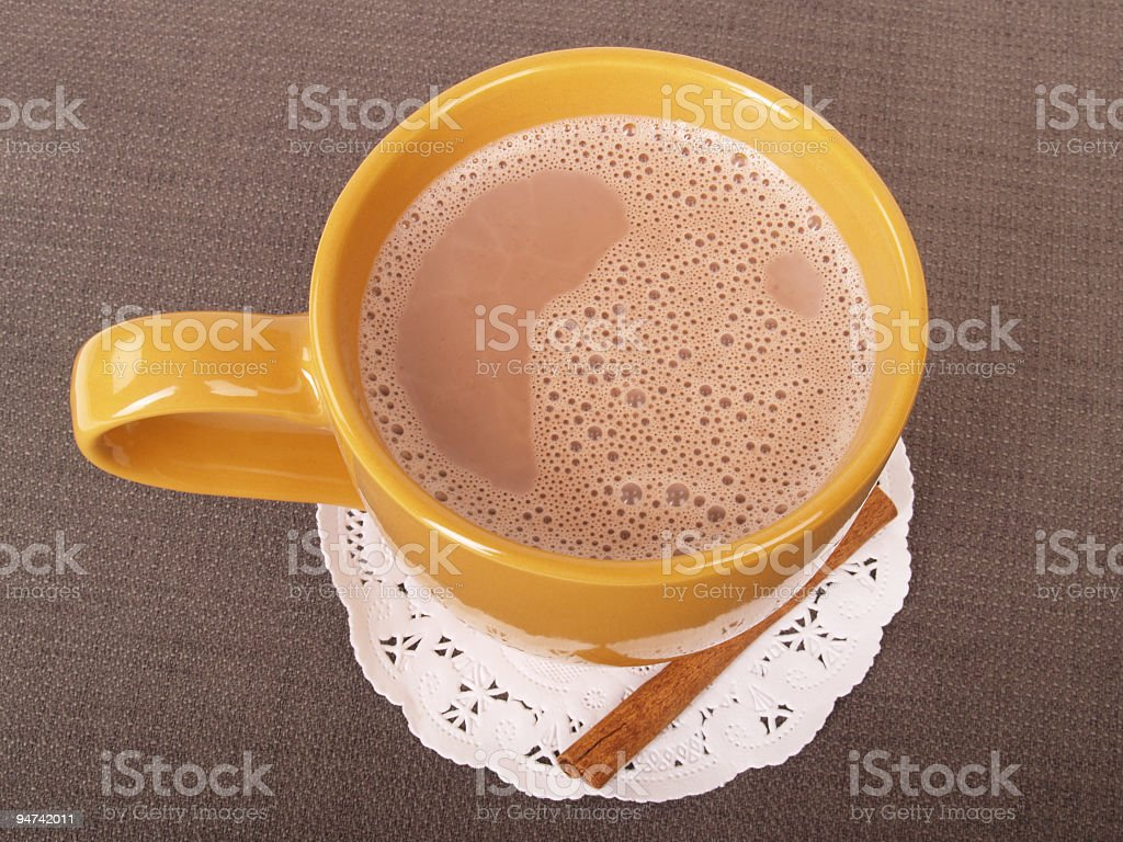Hot Chocolate High Angle royalty-free stock photo