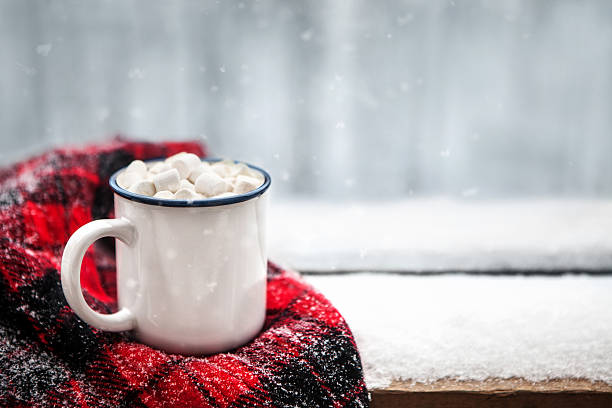 hot chocolate in winter - december stock photos and pictures