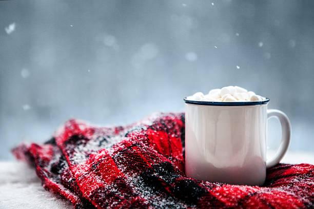 hot chocolate in winter - januari bildbanksfoton och bilder