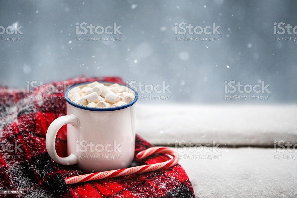 hot chocolate in winter - foto de acervo