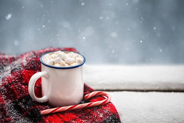 hot chocolate in winter - hot chocolate stock photos and pictures