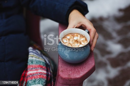 homemade, cup, chocolate, drink, marshmallow