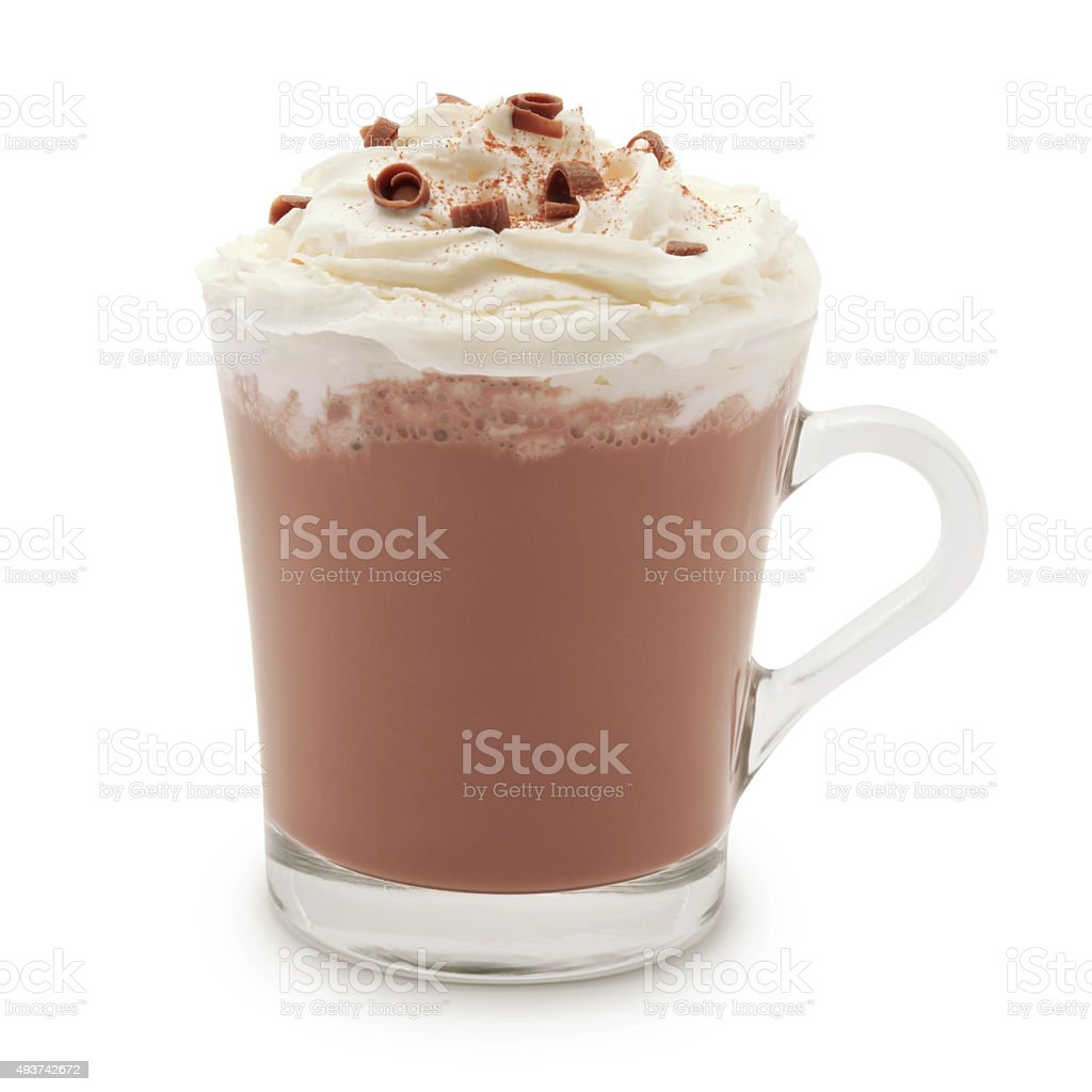 Hot Chocolate (with path) stock photo