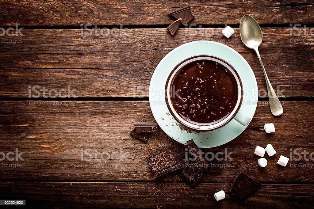 chocolate quente  - foto de acervo