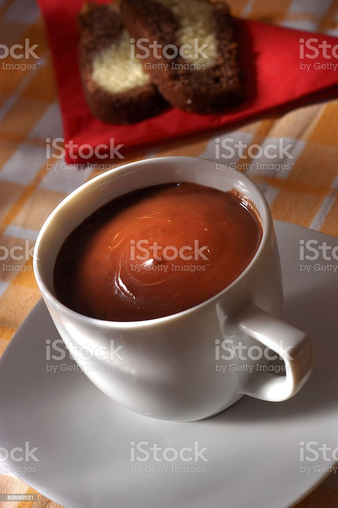 chocolate caliente foto de stock libre de derechos