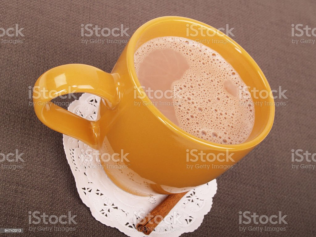 Hot Chocolate Tilted View royalty-free stock photo