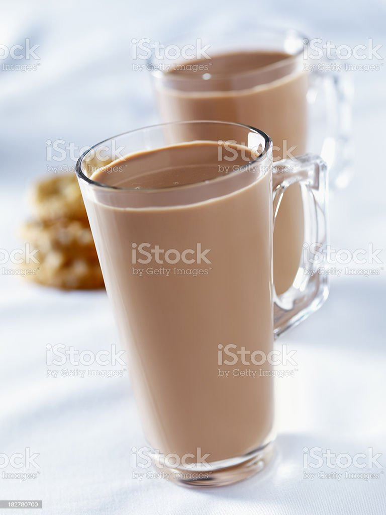 Hot Chocolate with Cookies royalty-free stock photo