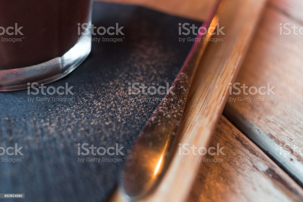 hot chocolate with cream on top stock photo